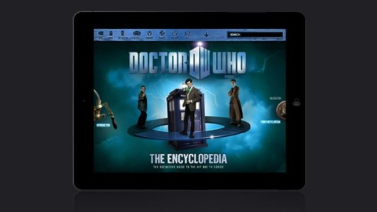 Dr Who encyclopedia iPad app