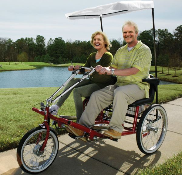 dual seat adult tricycle btttf 58 ...  Seat Adult Tricycle helps you sit next to your partner while biking
